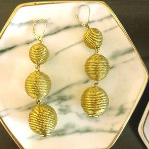 J.Crew Gold Ball Earrings